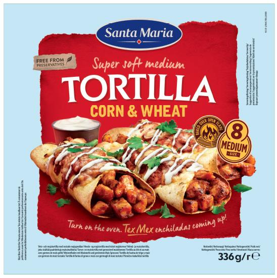 Tortilla corn 336g