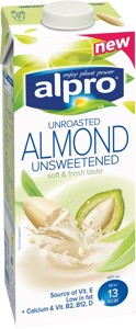 Almond drink unsweetened unroasted 1l