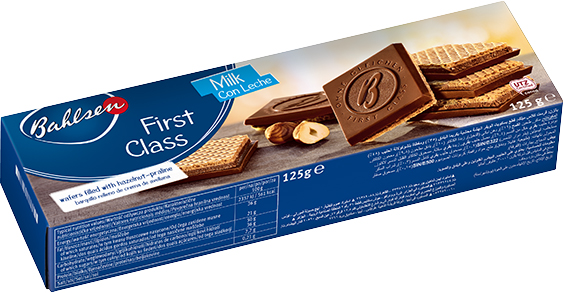First class biscuits with hazelnut filling 125g