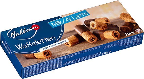 Wafelletten with milk chocolate 100g