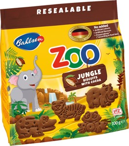 Zoo Jungle cocoa biscuits 100g