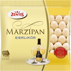 Marzipan eggs with eggnog 125g