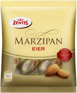 Marzipan eggs coated in chocolate 200g