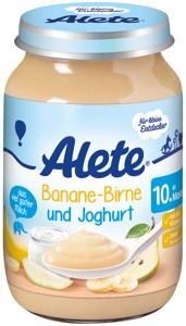 Banánovo-hruškový príkrm s jogurtom 190g