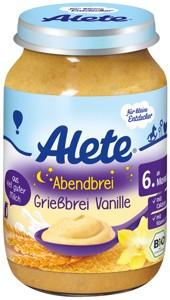 BIO večerní semolinová kaše s vanilkovou příchutí 190g