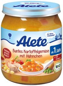 BIO zelenina so zemiakmi a kuracím mäsom 250g
