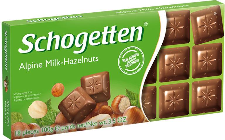 Schogetten čokoláda mliečná s lieskovými orieškami 100g
