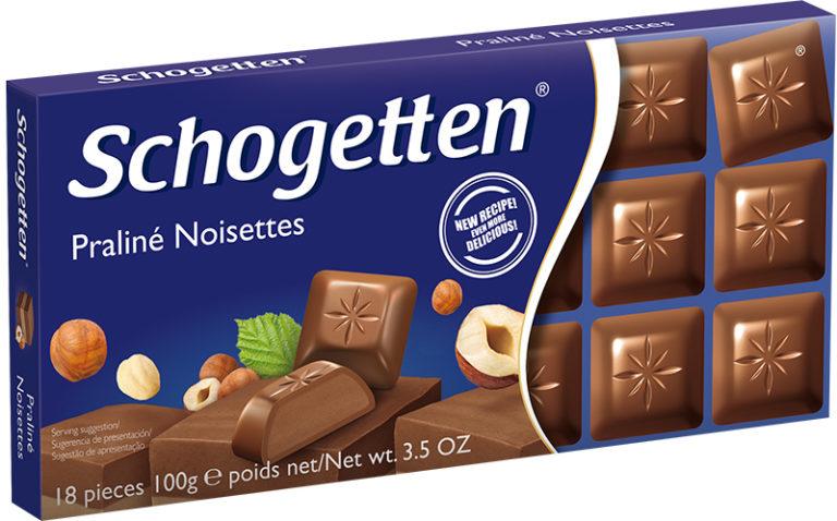 Schogetten čokoláda nugátová 100g