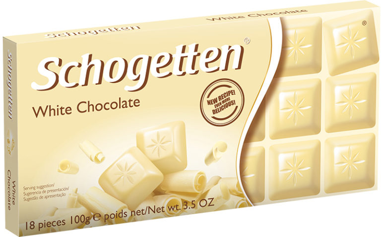 Schogetten čokoláda bílá 100g