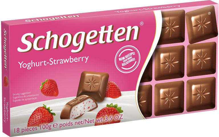 Schogetten čokoláda jogurt-jahoda 100g