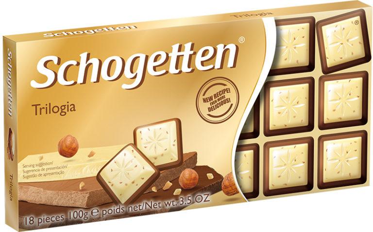 Schogetten čokoláda trilogia 100g