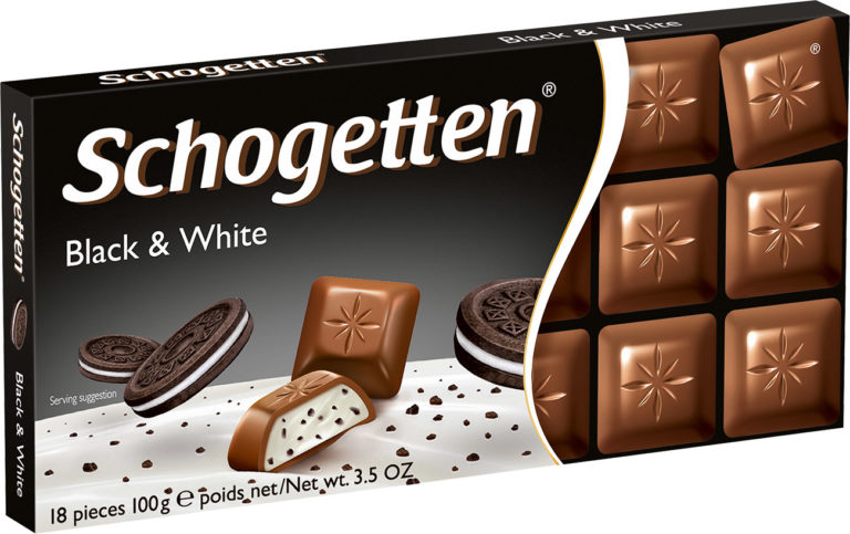 Schogetten čokoláda black and white 100g