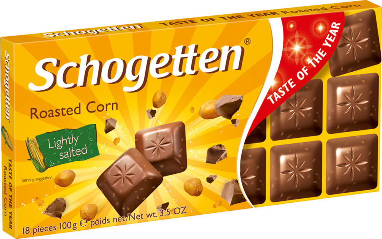 Schogetten čokoláda pražená kukuřice 100g