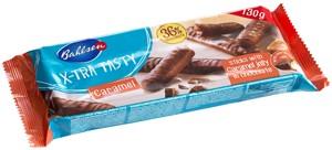 X-tra tasty Caramel sušenky s karamelem a čokoládou 130g