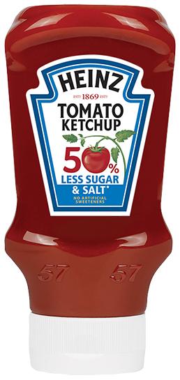 Kečup o 50% méně cukru a méně soli 550g