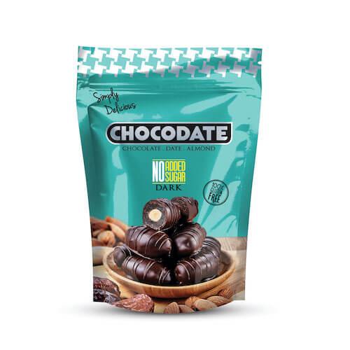 Datle smandlí vhořké čokoládě bez přidaného cukru 100g