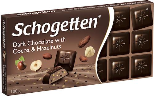 Schogetten hořká slísk. oříšky a kakaovými boby