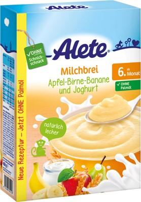 Alete mléčno-obilná kaše snízkotučným jogurtem 400g