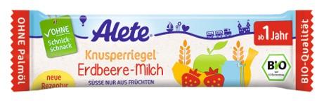 Bio ovocná tyčinka s jahodami a mlékem 25G